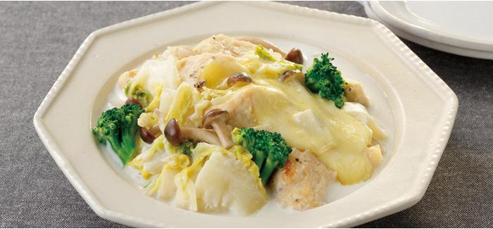 白菜と鶏のクリーム煮 健康な食 をデザインする ビオサポレシピ